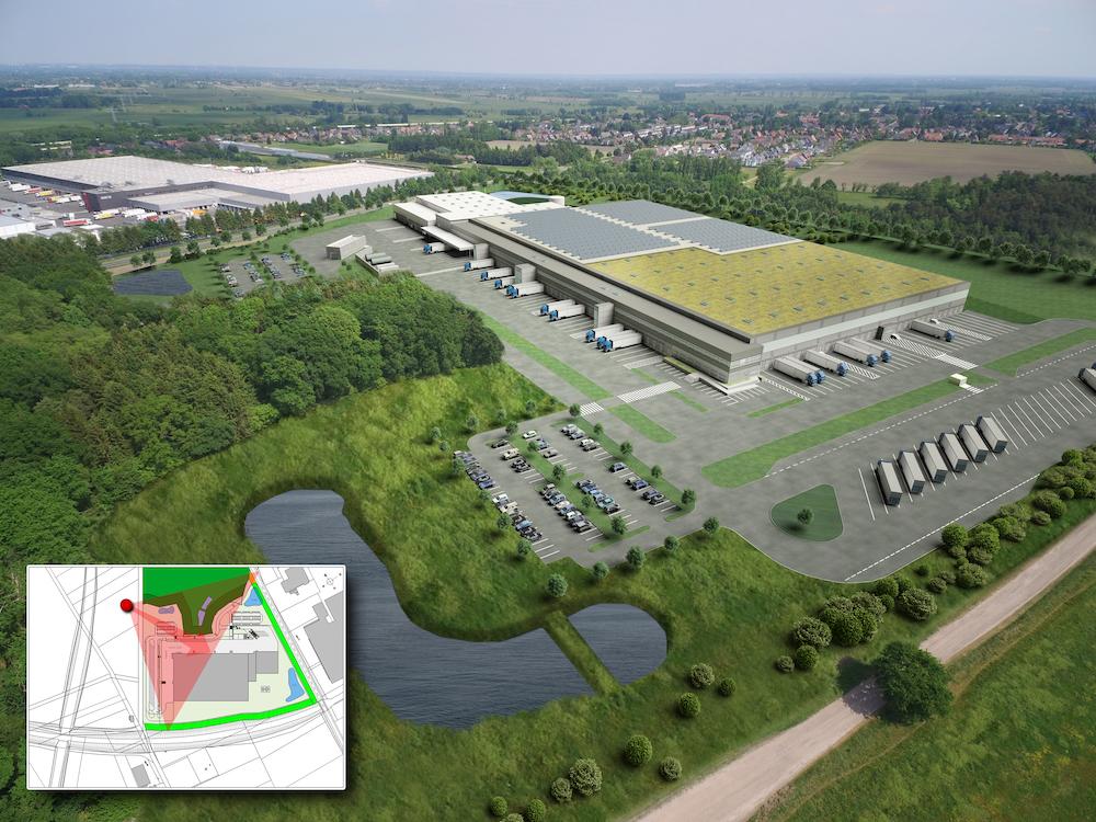 Gesamtansicht ALDI Logistikzentrum Stelle